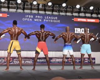 2020 IFBB Pro League Tampa Pro Men's Physique Prejudging Video