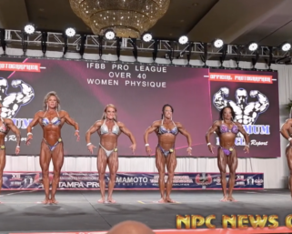 2020 IFBB Pro League Tampa Pro Masters Women's Physique Over 40 Prejudging Video
