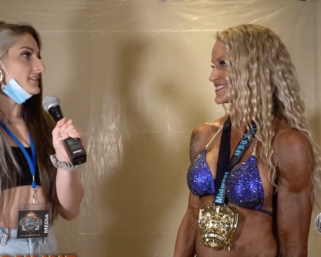 2020  NPC Central USA Championships  Women's Physique Overall  Winner Melissa Chick
