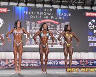 2020 IFBB Pro League Tampa Pro  Masters Women's Figure Prejudging Video