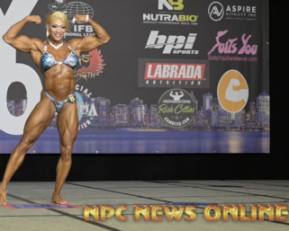 2020 @ifbb_pro_league NY Pro Women's Bodybuilding Pro Kim Buck Posing Routine.