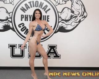 IFBB Pro League Bikini Pro Brittany Hamilton Posing Practice At The NPC Photo Gym.