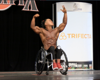 2020 Wheelchair Olympia 3rd Place Adelfo Cerame Posing Routine Video