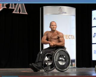 2020 Wheelchair Olympia 4th place Tyler Brey Posing Routine