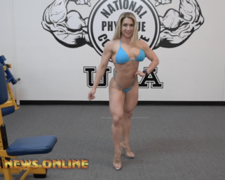 Road To The IFBB Pittsburgh Pro 2021: Devyn Cambre Posing At the NPC Photo Gym